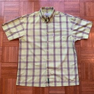 Vintage Ben Sherman Med. Green Short Sleeve Shirt